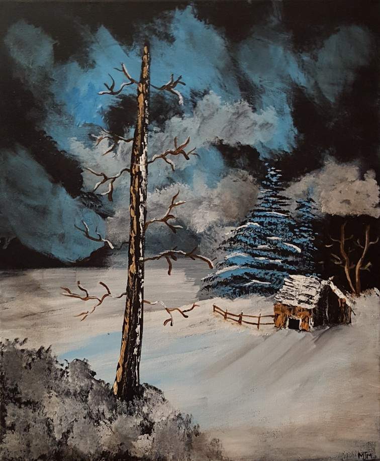 Lone Cabin 20x24 SOLD
