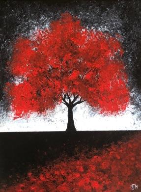 Twilight Red 2 18x24
