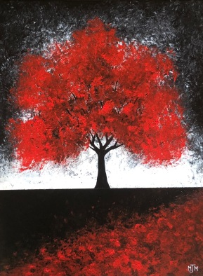 Twilight Red 2 18x24