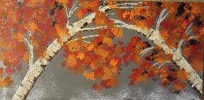 Birch Wreath 24X12 SOLD