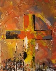 Orange Cross 8x10