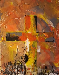Orange Cross 8x10