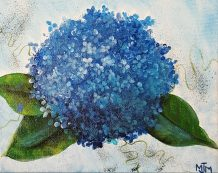 Blue Hydrangea 10x8 SOLD