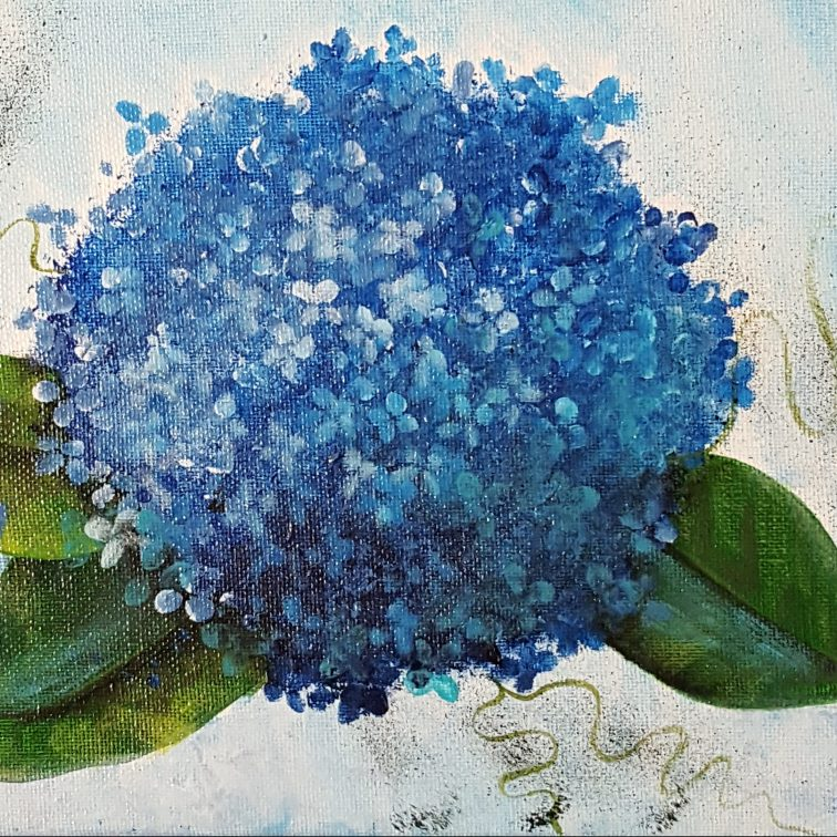 Blue Hydrangea 10x8