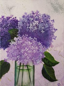 Hydrangea Arrangement 9x12 SOLD