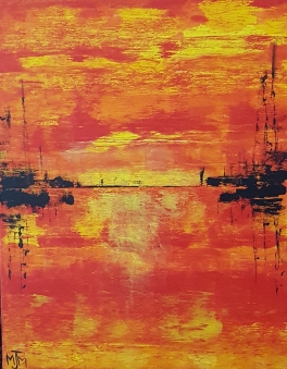 Sunsets 14x18 SOLD