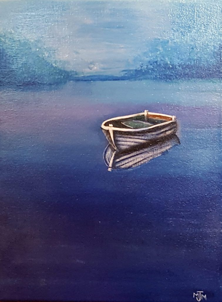 Lonely Boat 9x12