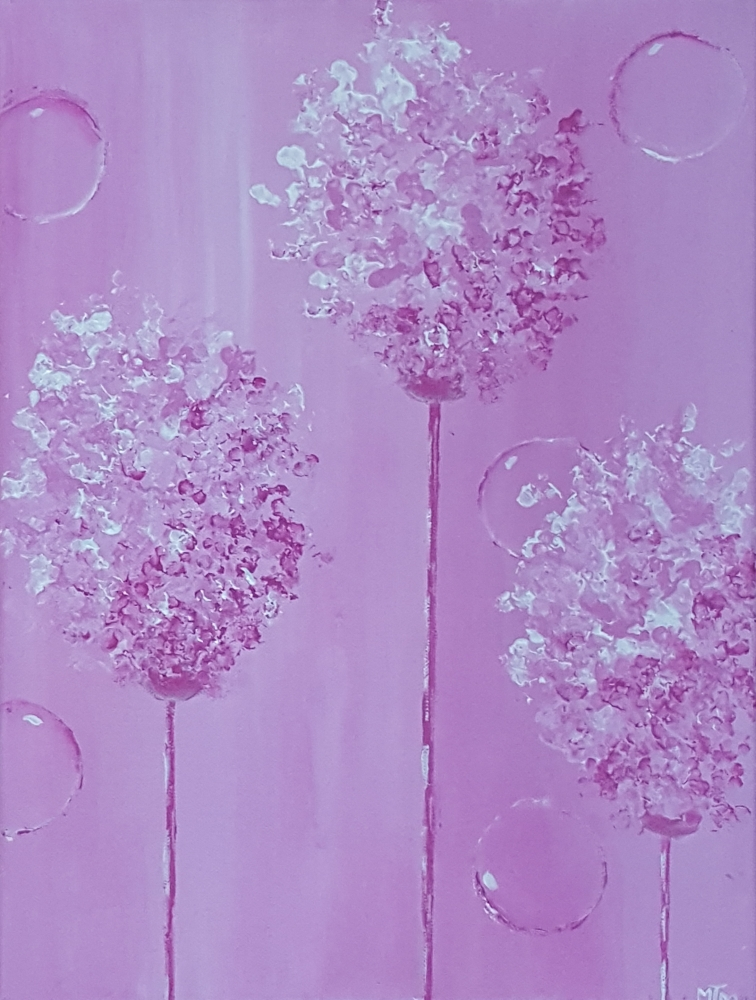 Pink Giant Allium 12x16