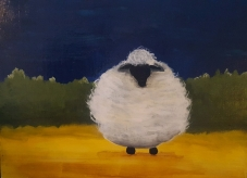Sheep Sheep 14x11 SOLD
