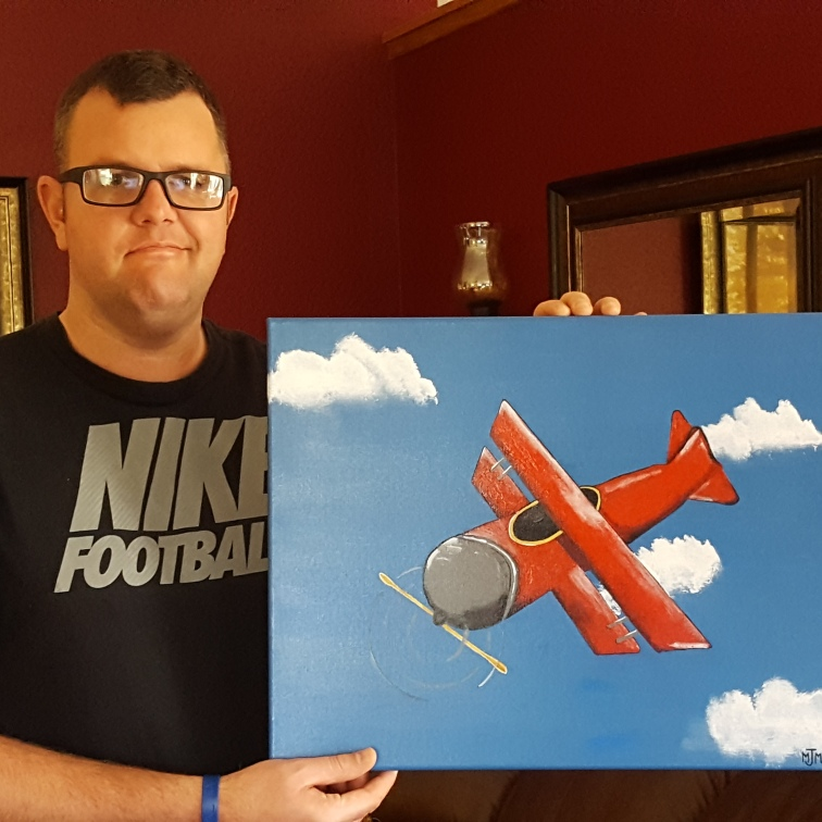 Airplane Commissioned 20x16