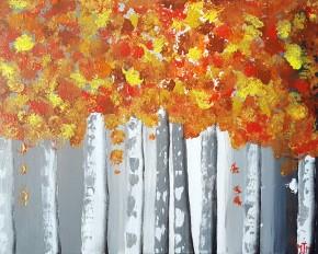 Birch Foliage 20x16