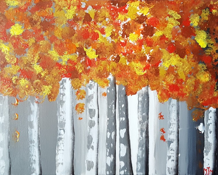 Birch Folliage 20x16