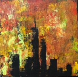 Twin Towers 20x20