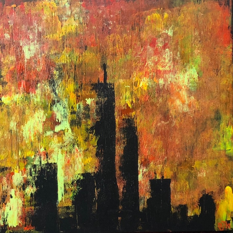Twin Towers 20x20