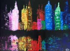 City Reflection 24x18 SOLD