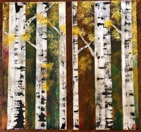 Autumn Birches (2-12x24)