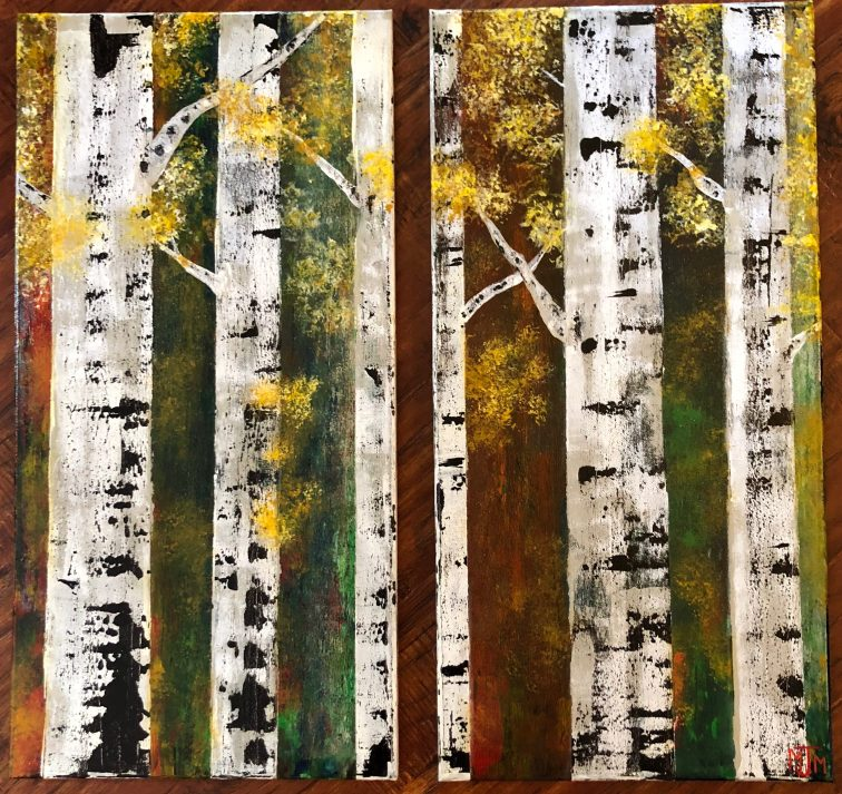 Autumn Birches (2-12x24)