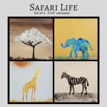 Safari Life 6x6 (set of 4)