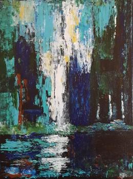 Waterfall Reflection 18x24