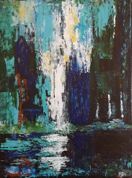 Waterfall Reflection 18x24 SOLD