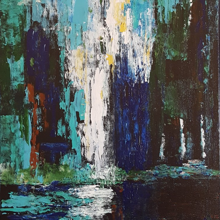 Waterfall Reflection 18x24