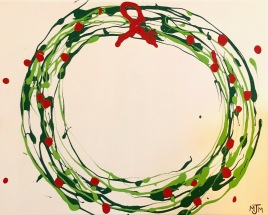 Holiday Wreath 20x16