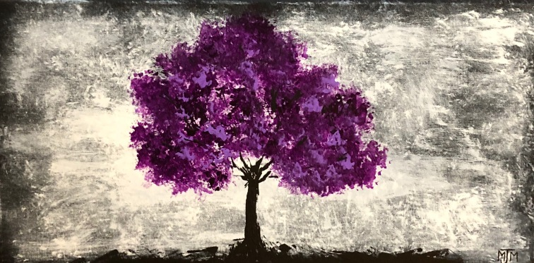 Violet Twilight 24x12