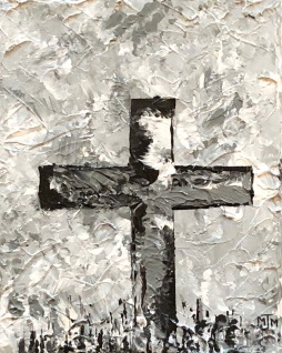 Grey Cross 8x10