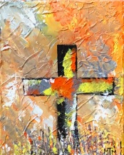 Fall Cross 8x10 SOLD