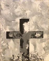 Black and White Cross 8x10