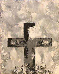 Black and White Cross 8x10