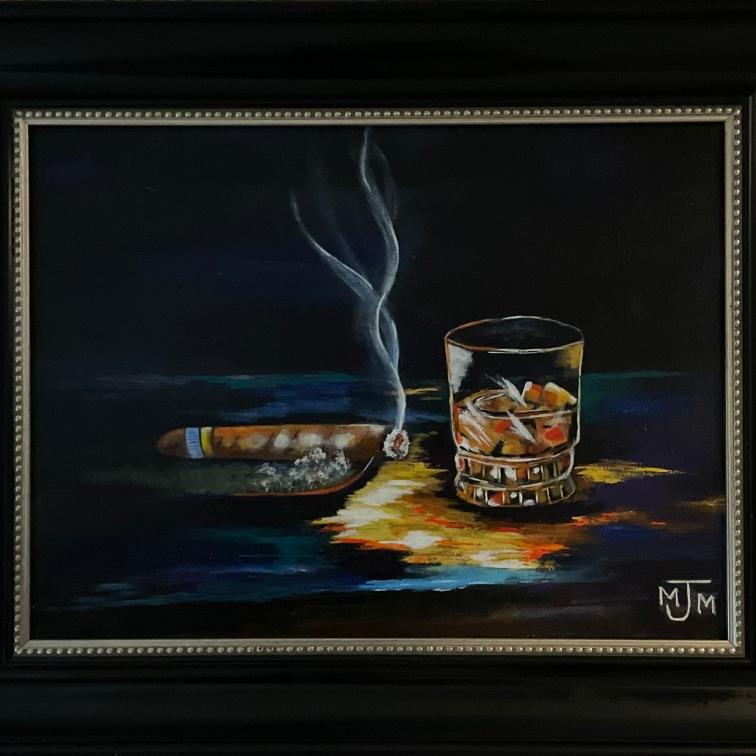 Cigar Bar 16x12